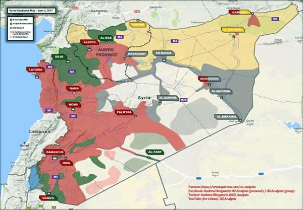 Sirija, lipanj 2017.